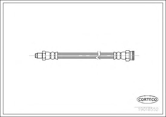 Тормозной шланг CORTECO 19018552