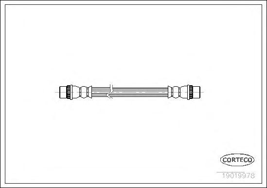 Тормозной шланг CORTECO 19019978