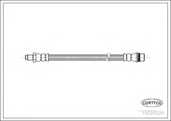 Тормозной шланг CORTECO 19020028