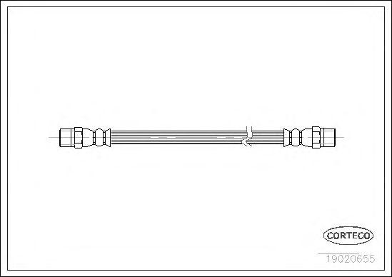 Тормозной шланг CORTECO 19020655