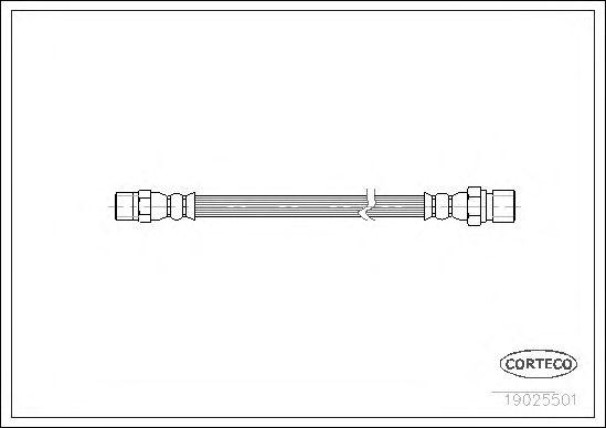 Тормозной шланг CORTECO 19025501