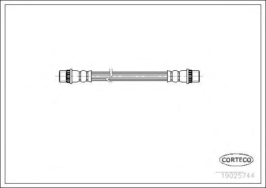Тормозной шланг CORTECO 19025744