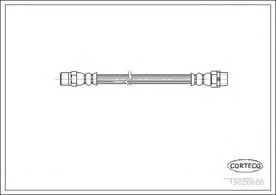 Тормозной шланг CORTECO 19026686
