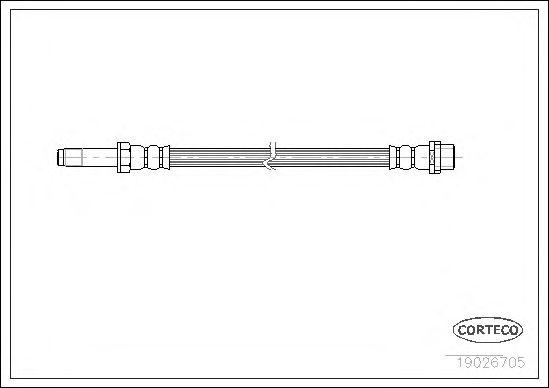 Тормозной шланг CORTECO 19026705