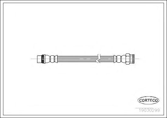 Тормозной шланг CORTECO 19030299