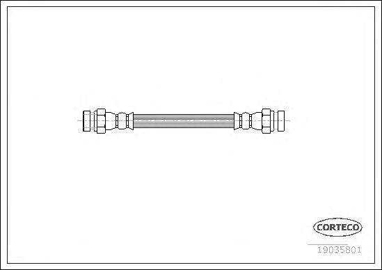 Тормозной шланг CORTECO 19035801