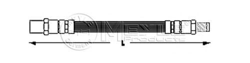 Тормозной шланг MEYLE 014 042 0011