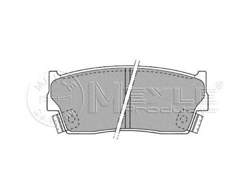 Тормозные колодки MEYLE 025 215 0014/W