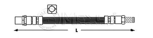 Тормозной шланг MEYLE 300 343 2109