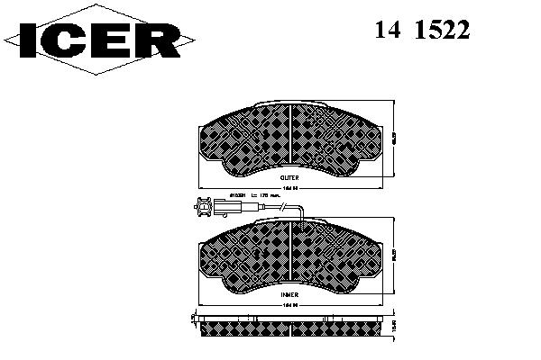Тормозные колодки ICER 141522