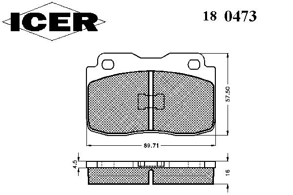 Тормозные колодки ICER 180473