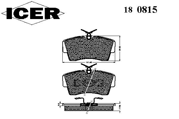 Тормозные колодки ICER 180815