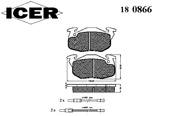 Тормозные колодки ICER 180866