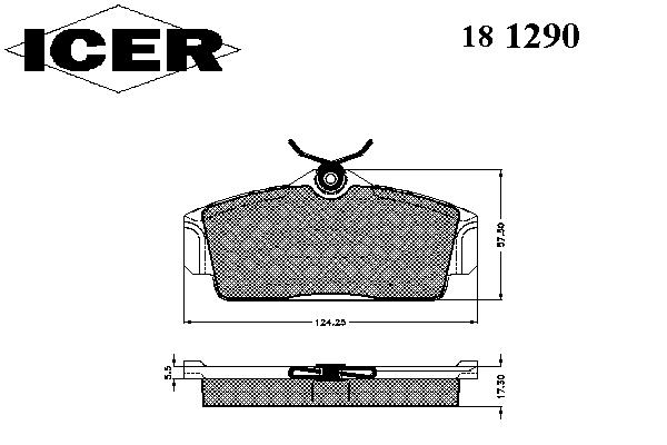 Тормозные колодки ICER 181290