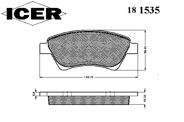 Тормозные колодки ICER 181535