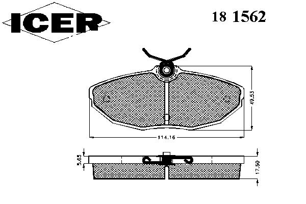 Тормозные колодки ICER 181562