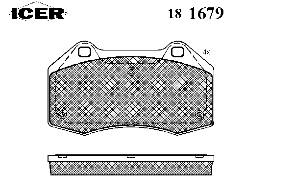 Тормозные колодки ICER 181679