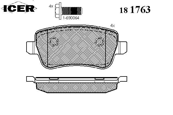 Тормозные колодки ICER 181763