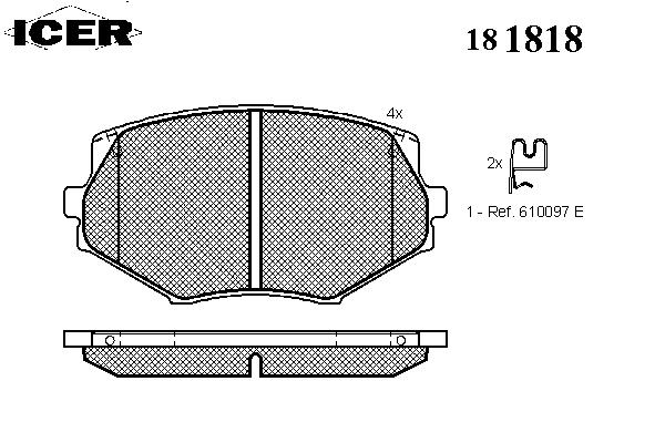 Тормозные колодки ICER 181818