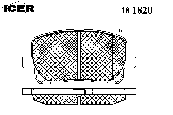 Тормозные колодки ICER 181820