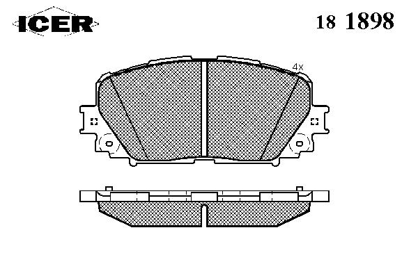 Тормозные колодки ICER 181898
