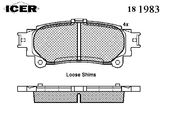 Тормозные колодки ICER 181983