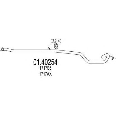 Труба выхлопного газа MTS 01.40254