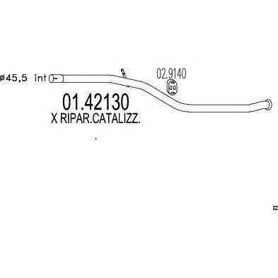 Труба выхлопного газа MTS 01.42130