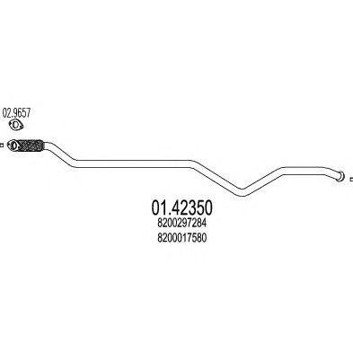 Труба выхлопного газа MTS 01.42350