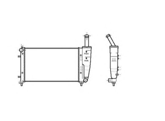 Радиатор, охлаждение двигателя NRF 53601