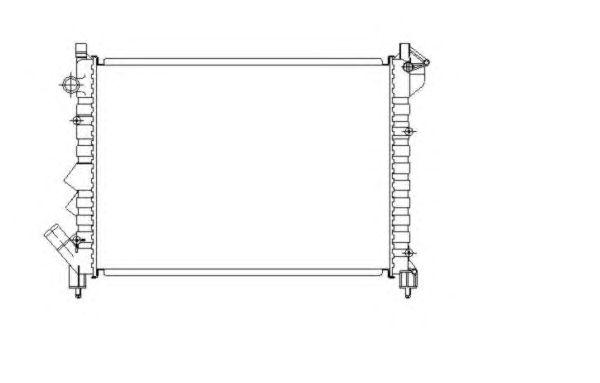 Радиатор, охлаждение двигателя NRF 58943