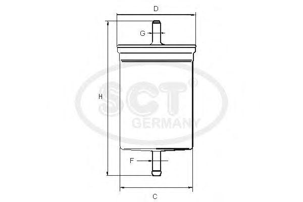 Топливный фильтр SCT Germany ST 741