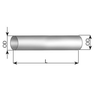 Труба выхлопного газа, универсальная DINEX 94710