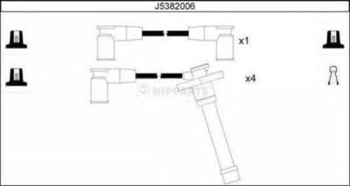 Комплект высоковольтных проводов NIPPARTS J5382006