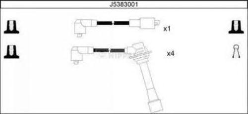 Комплект высоковольтных проводов NIPPARTS J5383001