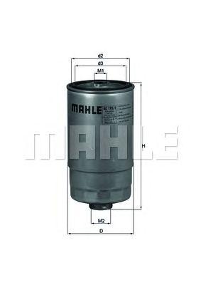 Топливный фильтр MAHLE ORIGINAL KC 195/1