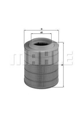 Воздушный фильтр MAHLE ORIGINAL LX 1798