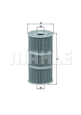 Масляный фильтр MAHLE ORIGINAL OX 389/1D