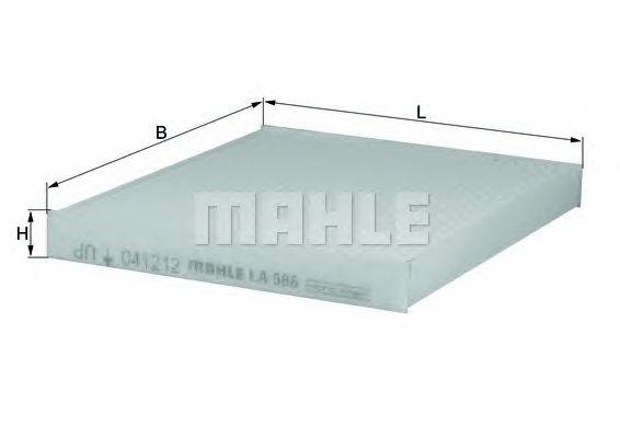 Воздушный фильтр MAHLE ORIGINAL LX 586