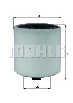 Воздушный фильтр MAHLE ORIGINAL LX 2831