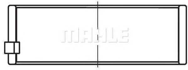 Шатунные вкладыши MAHLE ORIGINAL 034 PS 18670 025
