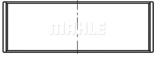 Вкладыши коренные MAHLE ORIGINAL 021 HS 20012 025