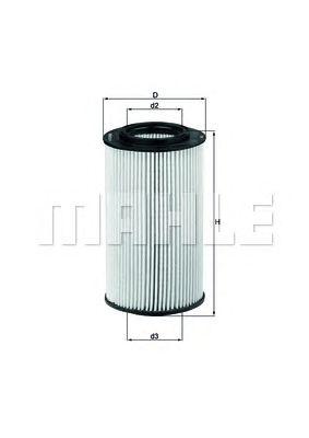 Масляный фильтр MAHLE ORIGINAL OX 773D