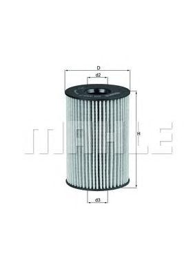 Масляный фильтр MAHLE ORIGINAL OX 353/7D