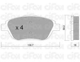 Тормозные колодки CIFAM 822-852-0