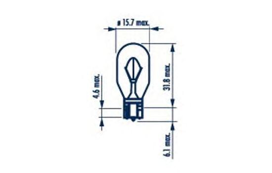 Лампа накаливания NARVA 17631 (фонарь указателя поворота, фонарь сигнала торможения, противотуманная фара, задний габаритный огонь)