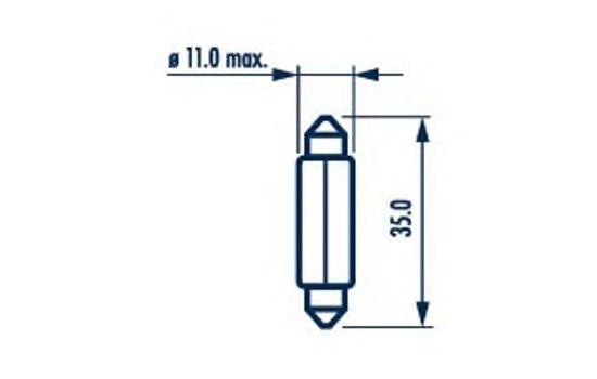 Лампа накаливания NARVA 17136 (фонарь указателя поворота, фонарь освещения номерного знака, стояночные огни / габаритные фонари, внутреннее освещение)