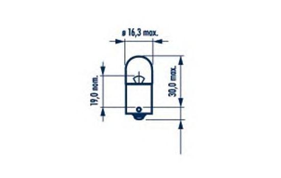 Лампа накаливания NARVA 17311 (фонарь указателя поворота, фонарь освещения номерного знака, стояночные огни / габаритные фонари, внутреннее освещение)