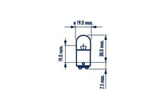 Лампа накаливания NARVA 17182 (фонарь указателя поворота, фонарь освещения номерного знака, стояночные огни / габаритные фонари)
