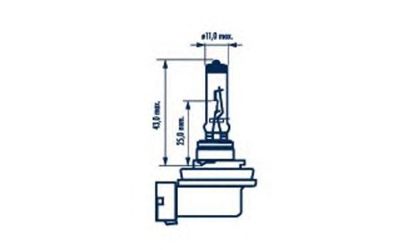 Лампа накаливания NARVA 48076 (фара дальнего света, фонарь указателя поворота, фонарь освещения номерного знака, стояночные огни / габаритные фонари)